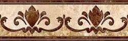 EMPERADOR коричневый напольный Бордюр 43х13,7 БН 66 031