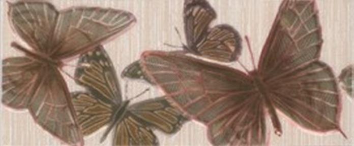 FANTASIA Бежевый Бордюр Бабочки шир. 23*9,5 БШ09021