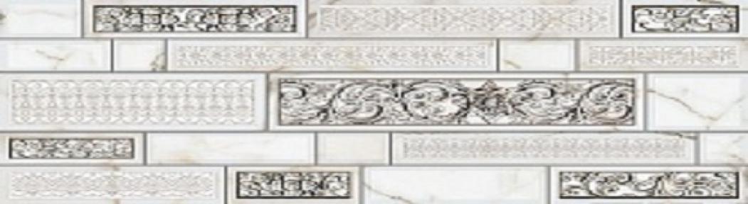 PLAZA Серый Декор 23*50 Д95071