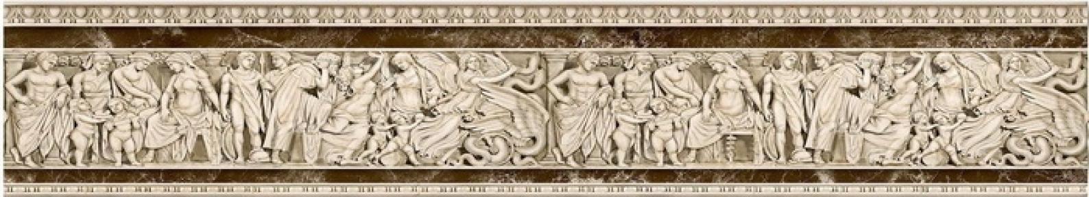 EMPERADOR коричневый вертикальный Бордюр 50*11 БВ 66 031-2