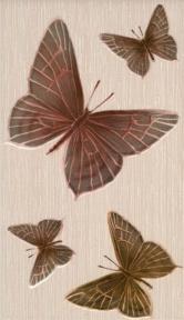FANTASIA Бежевый Бабочки Декор 23*40 Д09021