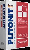 КЛЕЙ В-25кг ПЛИТОНИТ для кер.плитки внутри и снаружи помещений